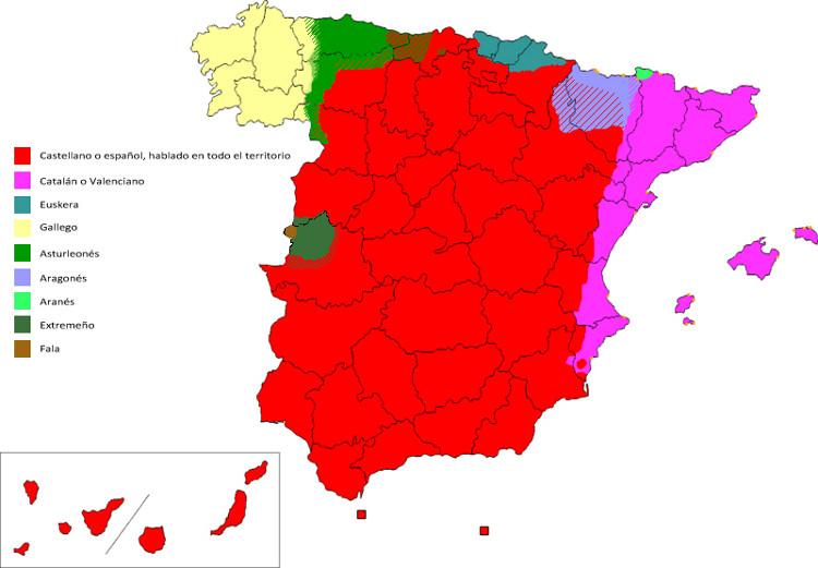 Cartina Spagna Galizia.Lingue Minoritarie In Spagna Dall Europa E Dal Mondo Provincia Autonoma Di Trento Minoranze Linguistiche